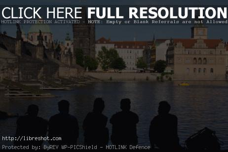 Free image of Young People Silhouettes In Prague