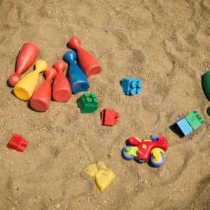 Toys in the sandbox