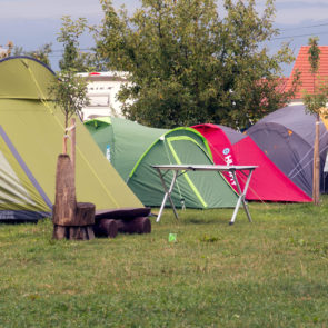Tents at the campsite