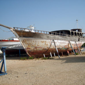 Old wooden ship
