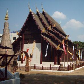 Wooden buddhist temple in Thailand