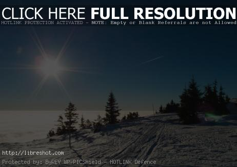 Free image of Snow and blue sky