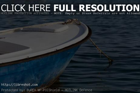 Free image of small blue sea dinghy