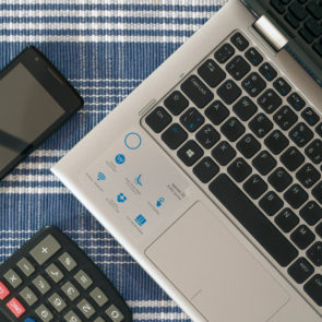 Phone, Laptop And Calculator
