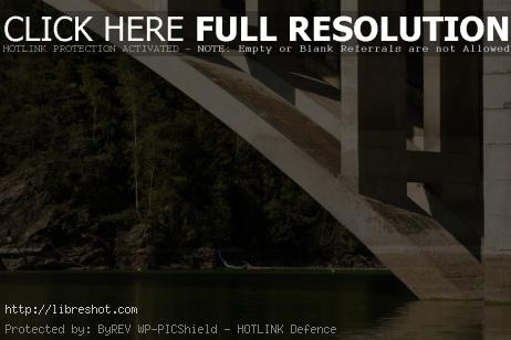 Concrete Bridge Above the River | Free Images For Commercial Use
