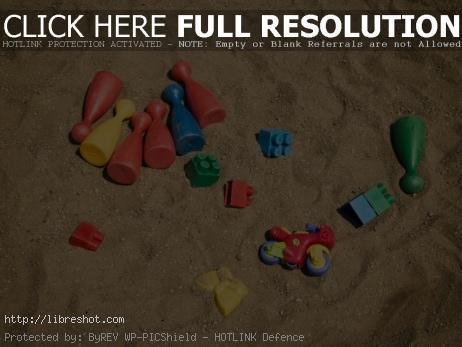 Toys in the sandbox