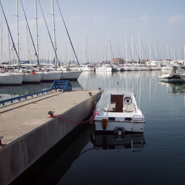 Boat in port – Split, Croatia