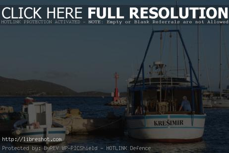 Free image of Fishing Boats in a Harbour