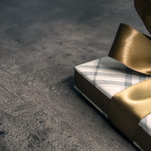 Gift with a golden bow