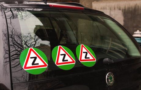 Free Image: Warning car stickers of novice driver | Libreshot Public Domain Photos