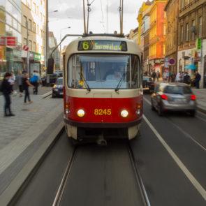 Tramway in Prague