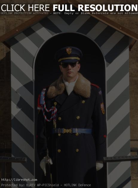 Free image of Guard Soldier In Prague Castle