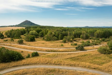 FREE IMAGE: Bicycle paths in czech landscape | Libreshot Public Domain Photos