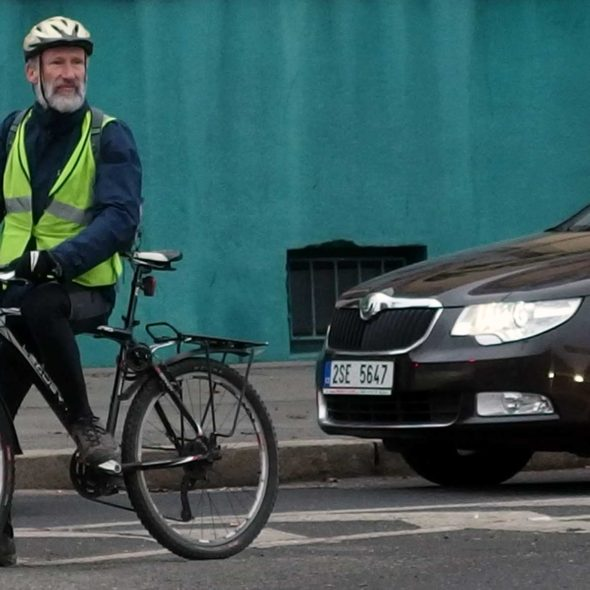 Elderly Cyclist in the City
