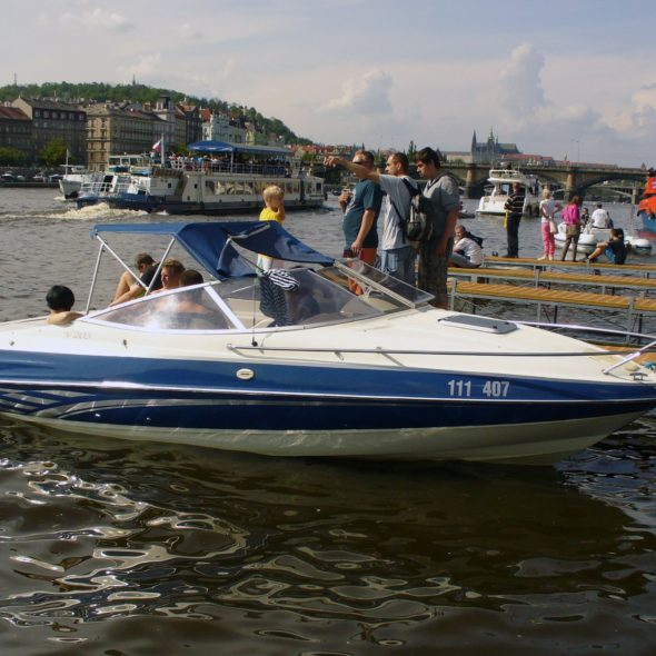 Boat in Prague
