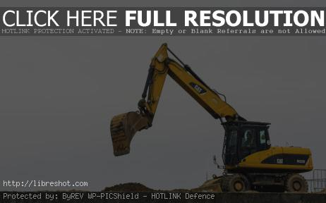 Free image of Yellow Excavator