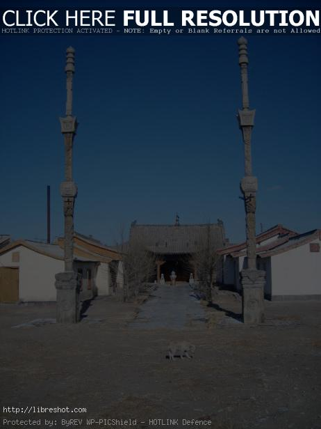 Buddhist nunnery in Mongolia