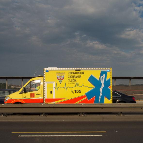 Ambulance on highway