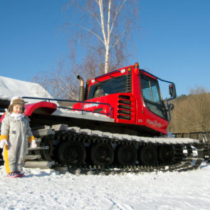 Children and Snowcat
