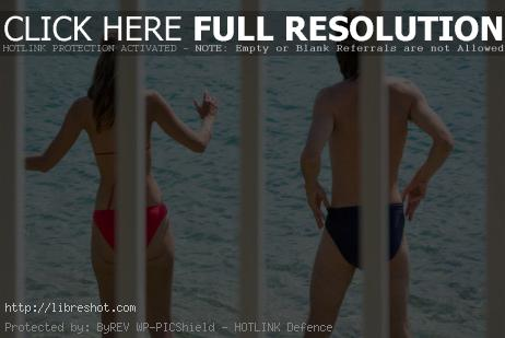 Free image of Man and Woman on the Beach