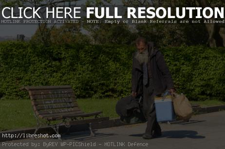 Free image of Homeless in the park
