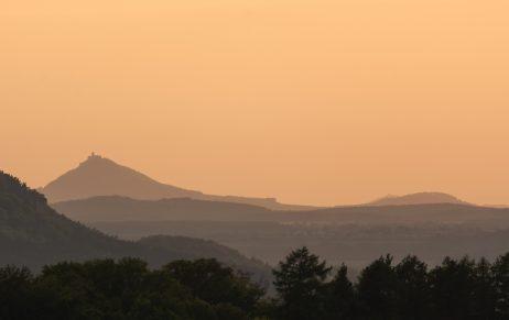 FREE IMAGE: Evening landscape with Bezdez castle | Libreshot Public Domain Photos
