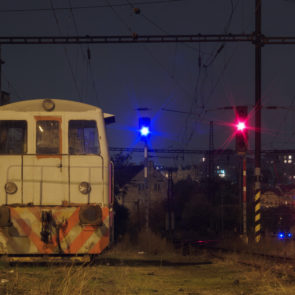 Old Train At Night