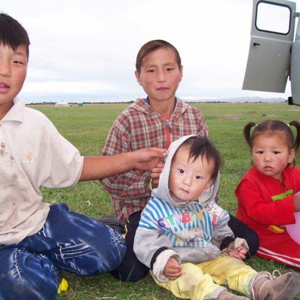 Children In Mongolia