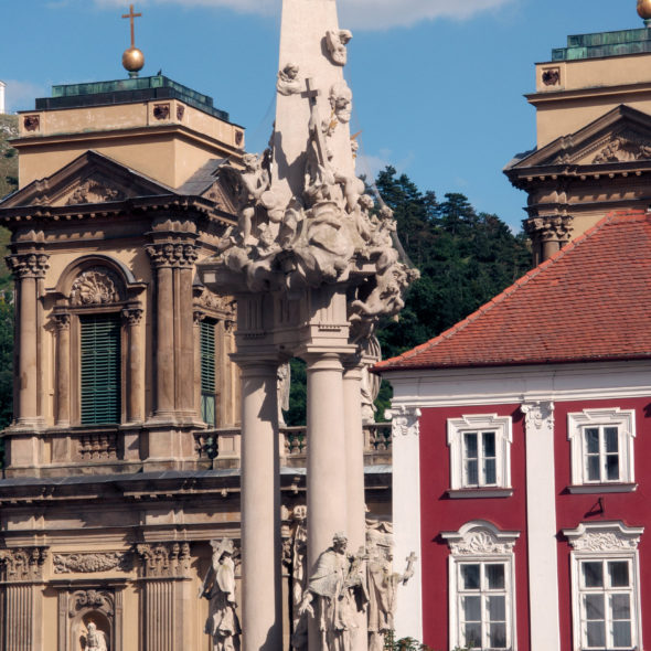 Holy Trinity Statue and Dietrichstein Tomb in Mikulov