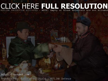 Mongolian new year ceremony