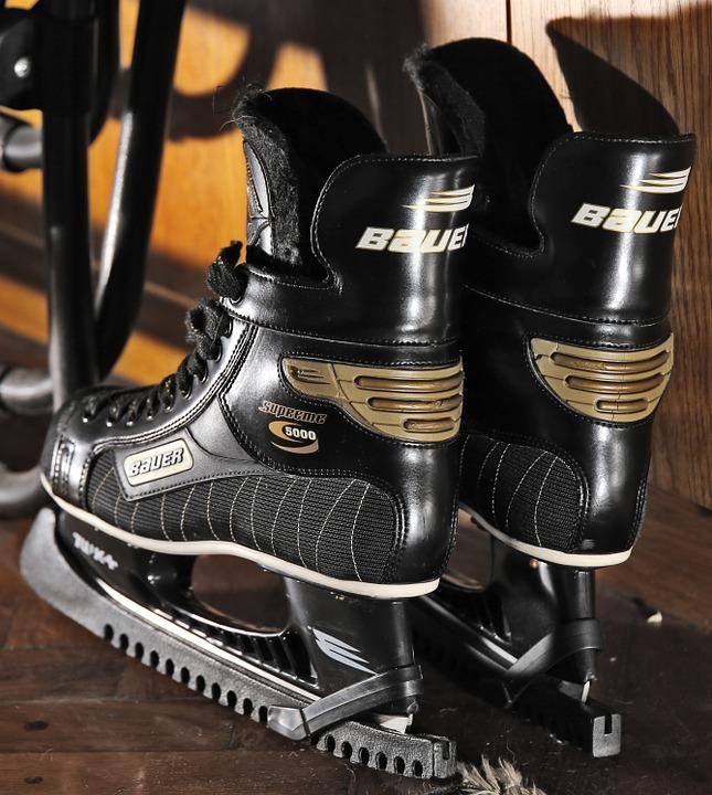 skates, ice hockey, winter