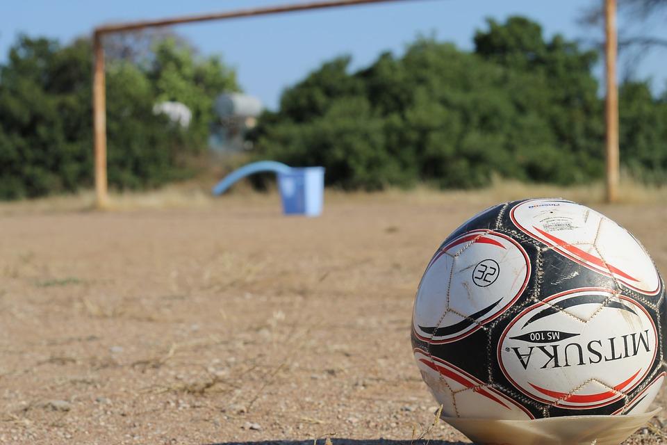 soccer, football, dirt soccer field