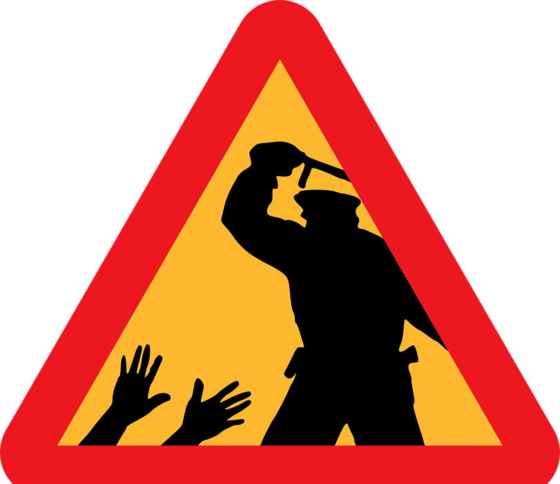 police, brutality, warning