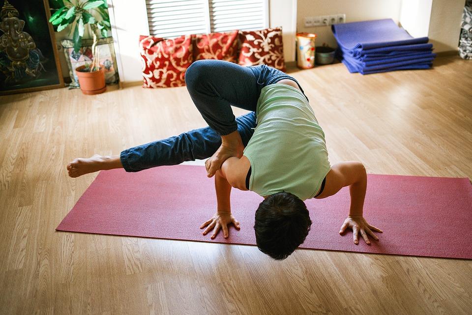 yoga, girl, sports