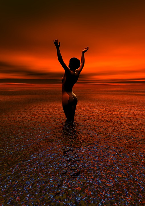 Naked women at sunset something is
