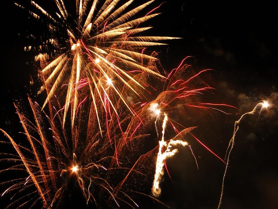 fireworks, graphics, yellow