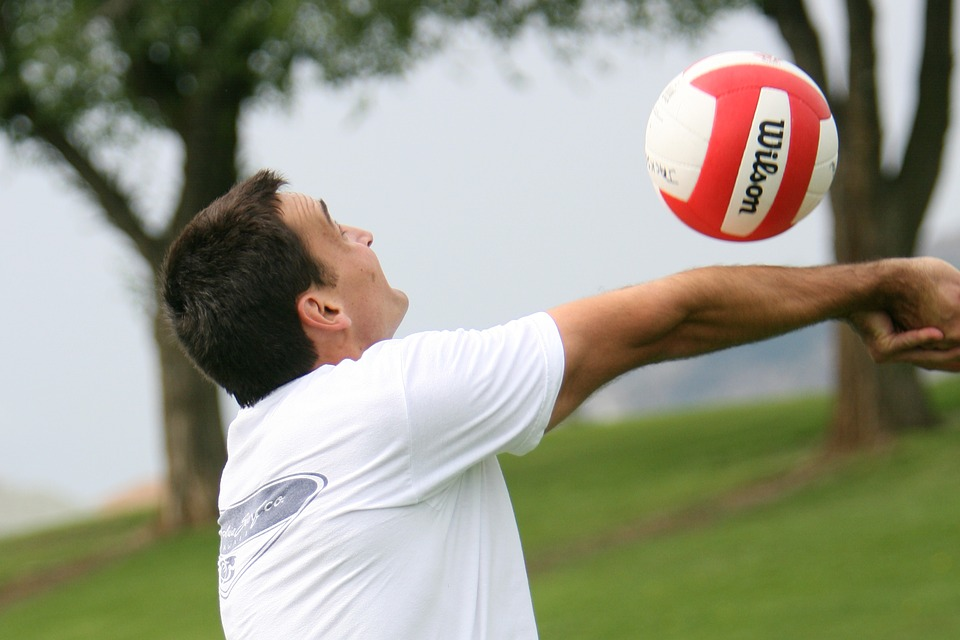 volleyball, sport, hit