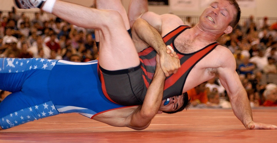 wrestlers, wrestling, competition