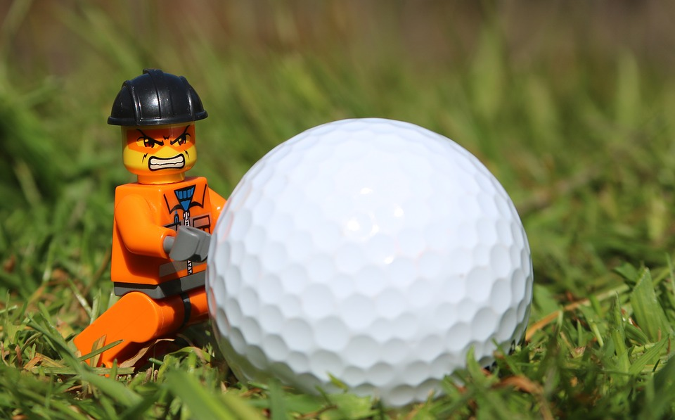 golf, golf ball, angry