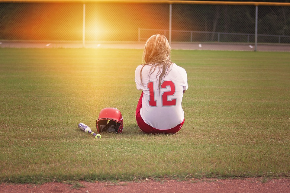 softball, player, girl