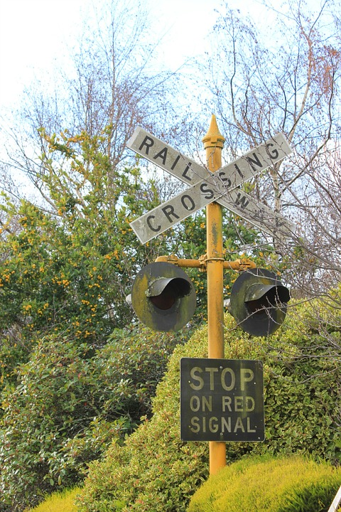 railway crossing, railway, crossing
