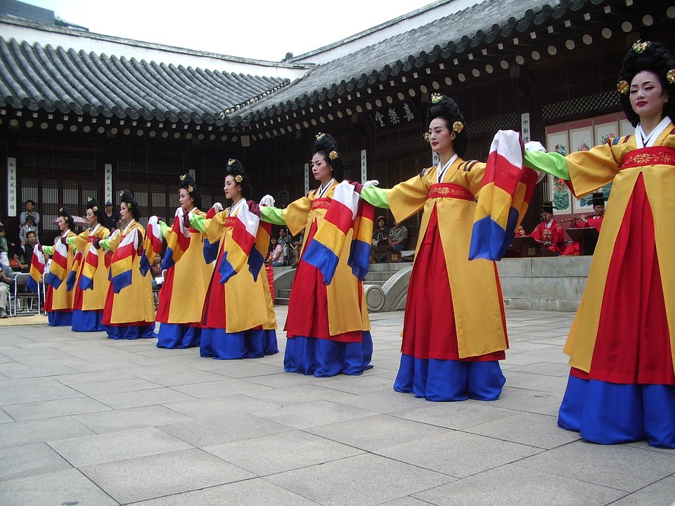 korea, dance, temple