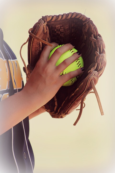 softball, leather, glove