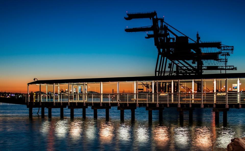 pier, dock, ferry