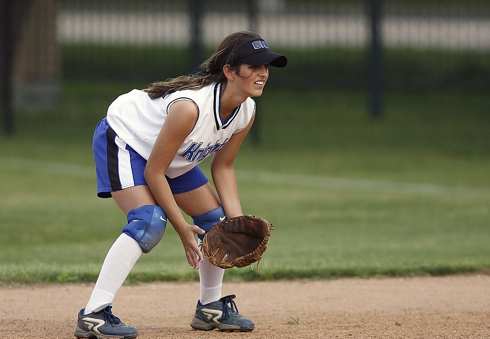 softball, player, female