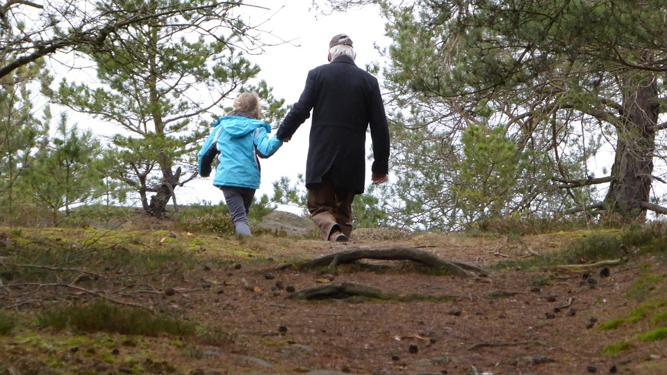 walk, family, father