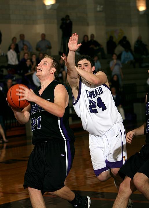 basketball, player, defense