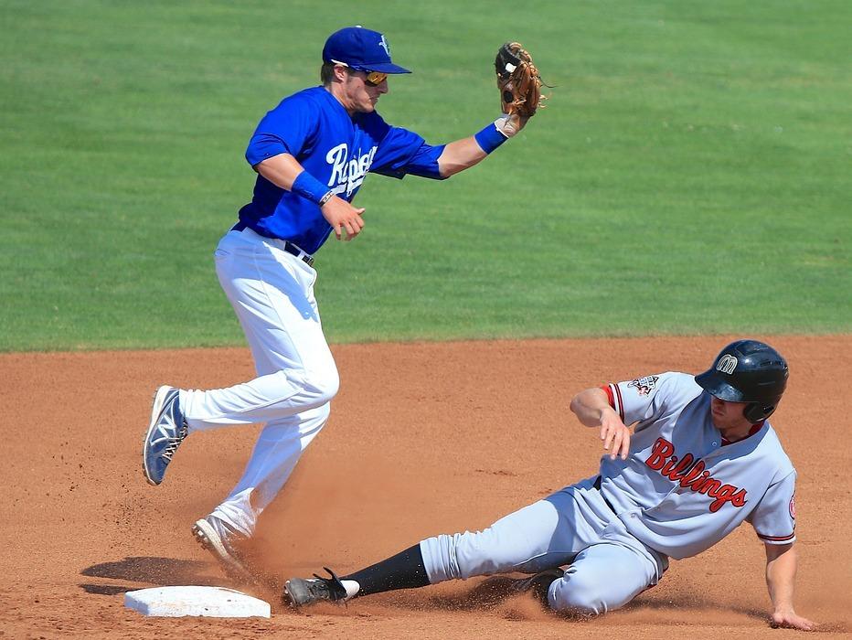 baseball, sliding, catch