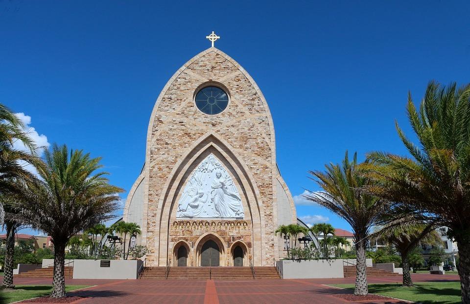 heaven, catholic church, cross