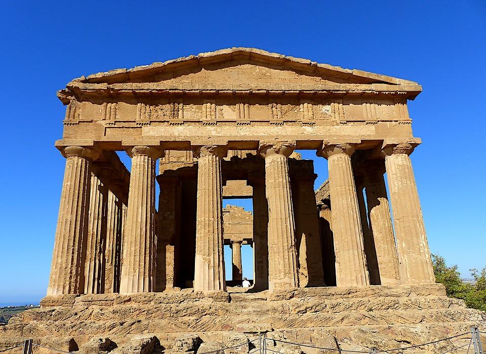 architecture, temple, sicily